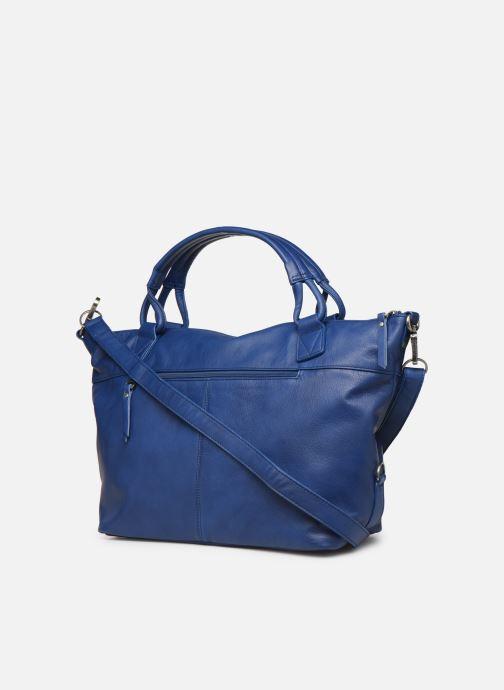 Handväskor Sabrina Raphaëlle Blå Bild från höger sidan