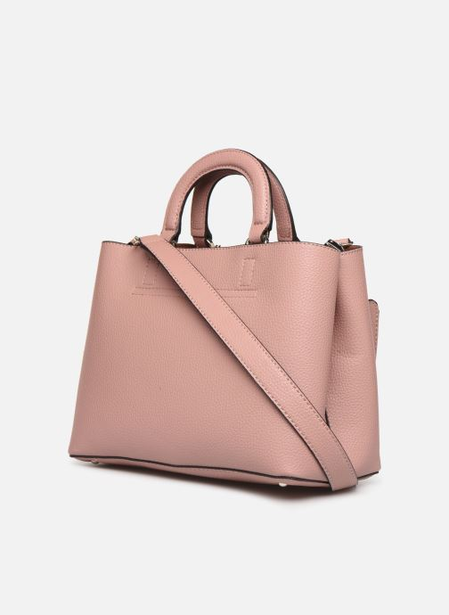 Bolsos de mano Guess ARETHA GIRLFRIEND SATCHEL Rosa vista lateral derecha
