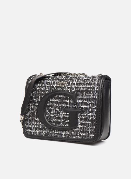 Bolsos de mano Guess CHRISSY CONVERTIBLE CROSSBODY FLAP Negro vista del modelo