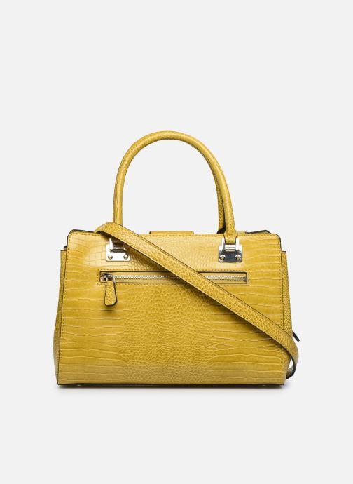 Bolsos de mano Guess CLEO GIRLFRIEND SATCHEL Amarillo vista de frente