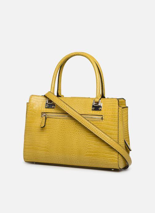 Bolsos de mano Guess CLEO GIRLFRIEND SATCHEL Amarillo vista lateral derecha