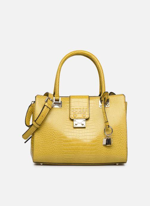 Bolsos de mano Guess CLEO GIRLFRIEND SATCHEL Amarillo vista de detalle / par