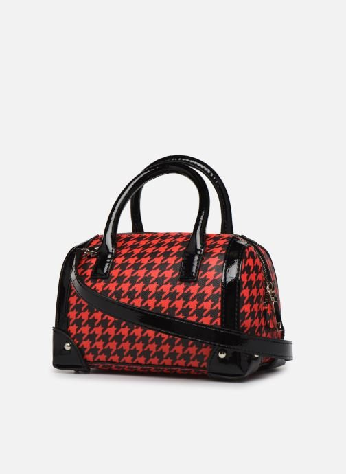 Sacs à main Guess LUCIENNE SMALL BOX SATCHEL Rouge vue droite