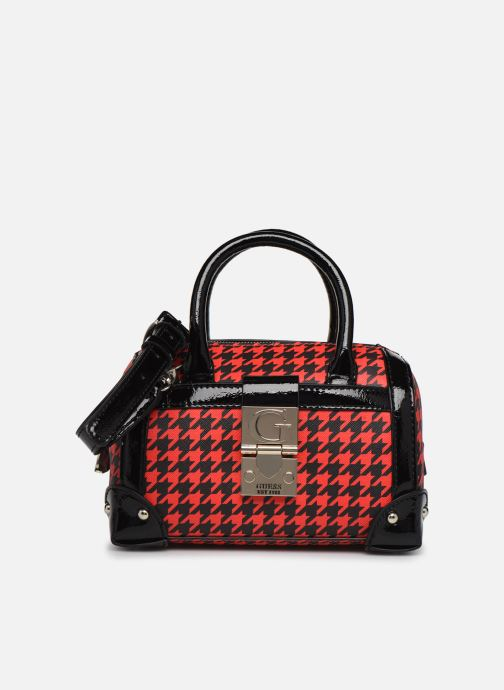Bolsos de mano Guess LUCIENNE SMALL BOX SATCHEL Rojo vista de detalle / par
