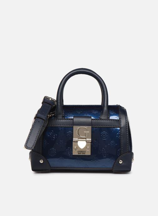 Sacs à main Guess LUCIENNE SMALL BOX SATCHEL Bleu vue détail/paire