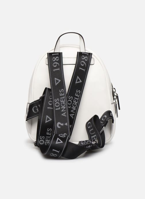 Sacs à dos Guess RONNIE BACKPACK Blanc vue face