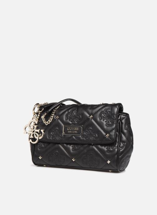 Bolsos de mano Guess SHANINA CONVERTIBLE CROSSBODY FLAP Negro vista del modelo