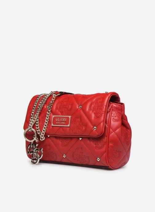Bolsos de mano Guess SHANINA CONVERTIBLE CROSSBODY FLAP Rojo vista del modelo