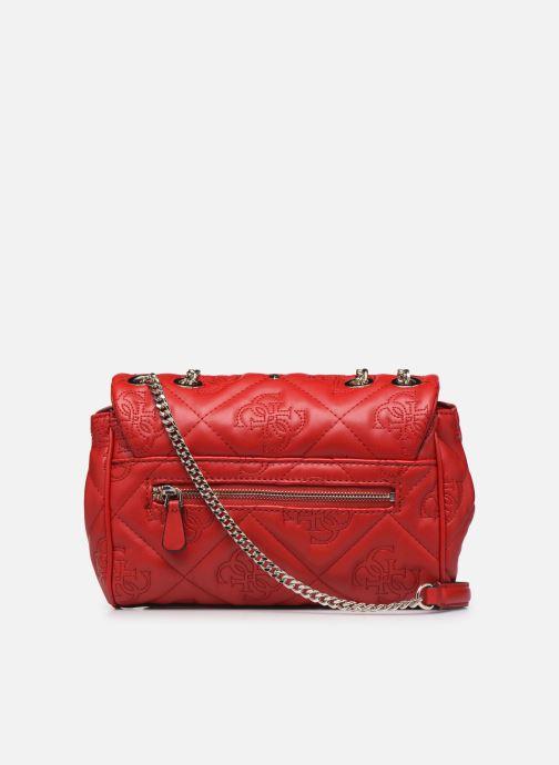 Handtaschen Guess SHANINA CONVERTIBLE CROSSBODY FLAP rot ansicht von vorne