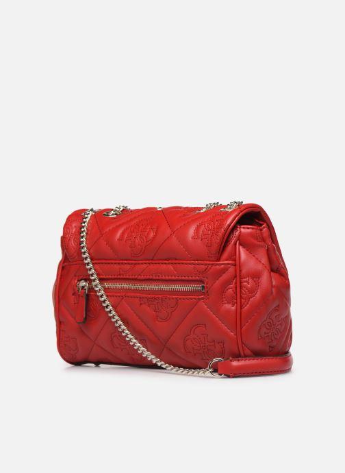Handtassen Guess SHANINA CONVERTIBLE CROSSBODY FLAP Rood rechts