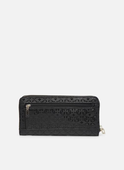 Portemonnaies & Clutches Guess WILONA LARGE ZIP AROUND schwarz ansicht von vorne