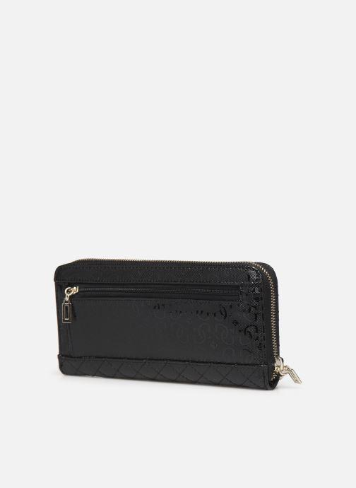 Portemonnaies & Clutches Guess WILONA LARGE ZIP AROUND schwarz ansicht von rechts