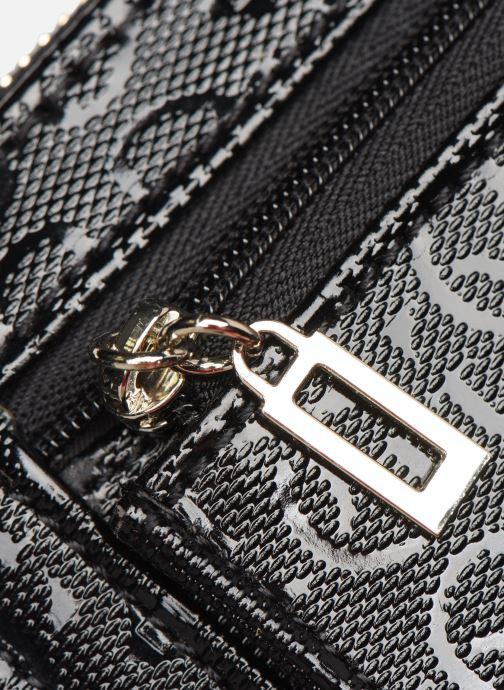 Portemonnaies & Clutches Guess WILONA LARGE ZIP AROUND schwarz ansicht von links