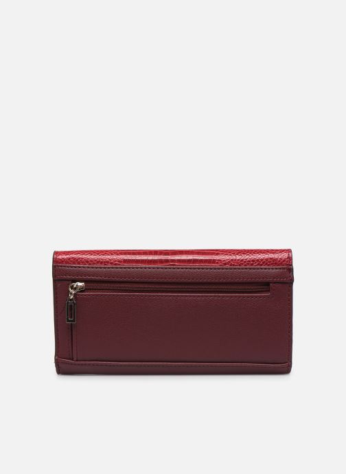 Wallets & cases Guess MAGNOLIA POCKET TRIFOLD Burgundy front view