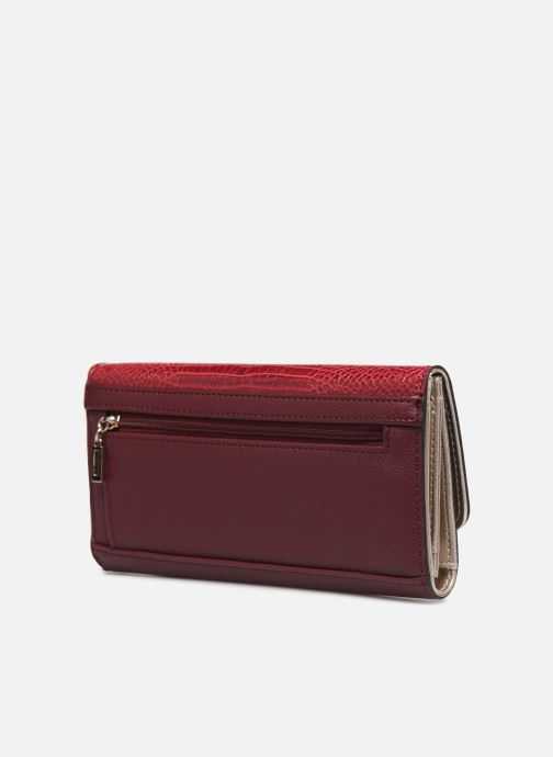 Wallets & cases Guess MAGNOLIA POCKET TRIFOLD Burgundy view from the right