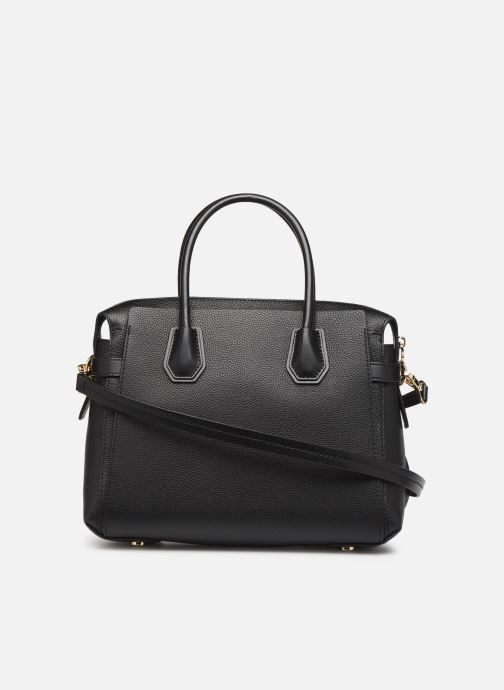 Sacs à main Michael Michael Kors MERCER BELETED MD SATCHEL Noir vue face