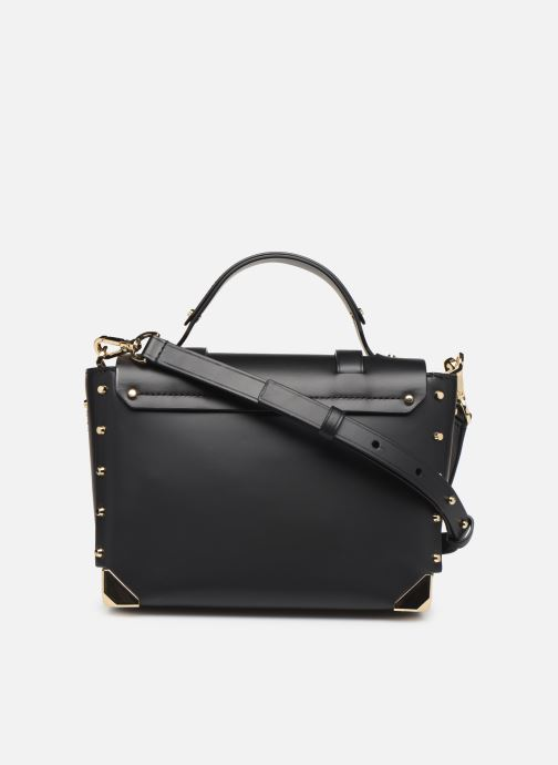 Handtassen Michael Michael Kors MANHATAN MD TH SCHOOL SATCHEL Zwart voorkant