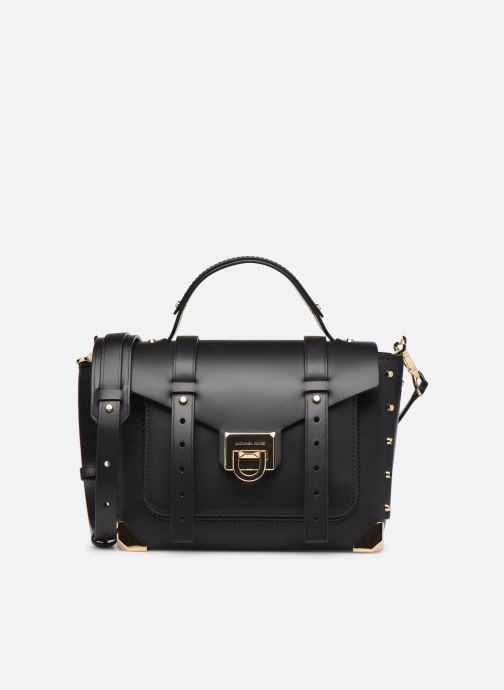 Handtassen Michael Michael Kors MANHATAN MD TH SCHOOL SATCHEL Zwart detail