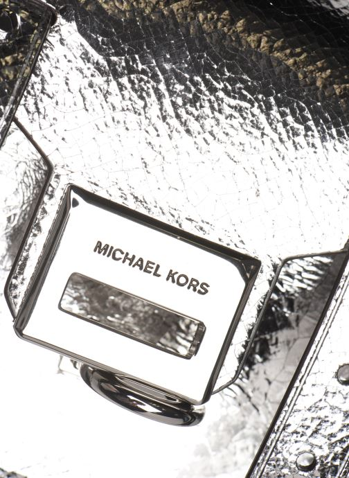 Handtassen Michael Michael Kors MANHATAN SM MESSENGER Zilver links