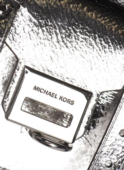 Borse Michael Michael Kors MANHATAN SM MESSENGER Argento immagine sinistra