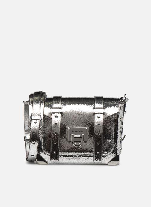 Handtassen Michael Michael Kors MANHATAN SM MESSENGER Zilver detail