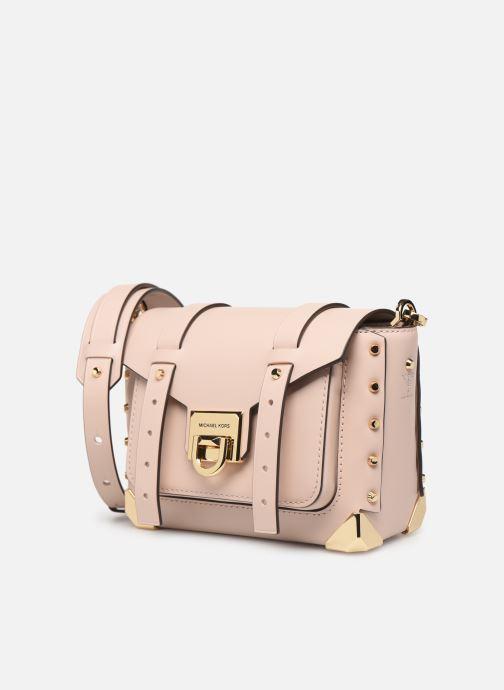 Bolsos de mano Michael Michael Kors MANHATAN SM MESSENGER Rosa vista del modelo