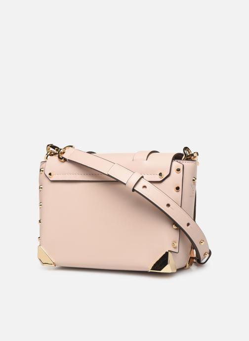 Handbags Michael Michael Kors MANHATAN SM MESSENGER Pink view from the right