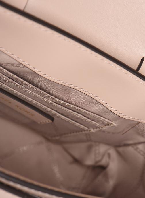 Handbags Michael Michael Kors MANHATAN SM MESSENGER Pink back view