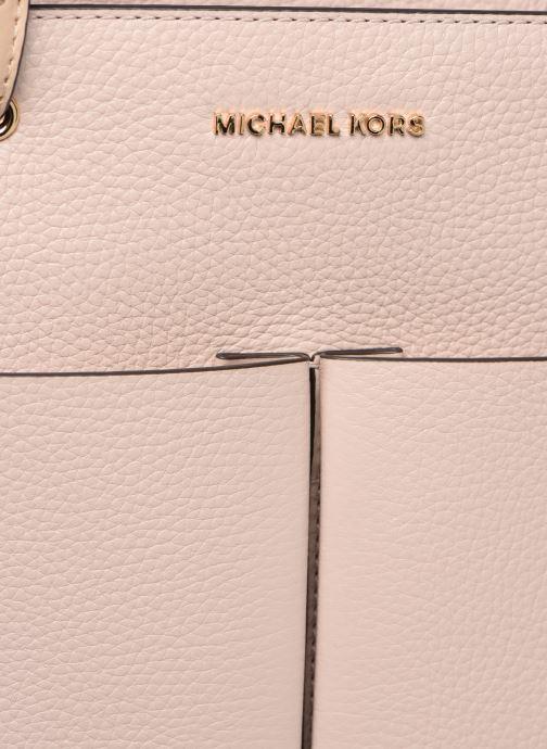 Bolsos de mano Michael Michael Kors BEFDORD MD TZ POCKET TOTE Rosa vista lateral izquierda