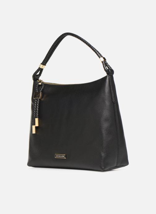 Handtaschen Michael Michael Kors LEXINGTON LG SHOULDER schwarz schuhe getragen