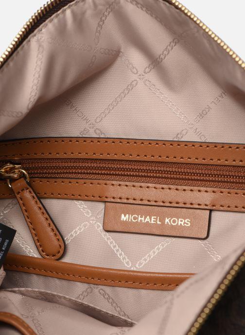 Sacs à main Michael Michael Kors BROOK MD ZIP POCKET MESSENGER Marron vue derrière