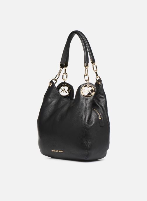 Handtaschen Michael Michael Kors LILIE LG CHAIN SHOULDER TOTE schwarz schuhe getragen