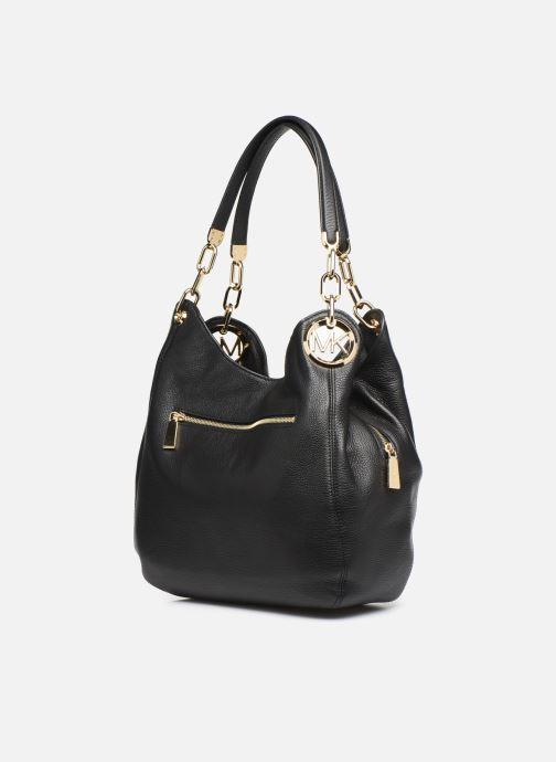 Handtaschen Michael Michael Kors LILIE LG CHAIN SHOULDER TOTE schwarz ansicht von rechts