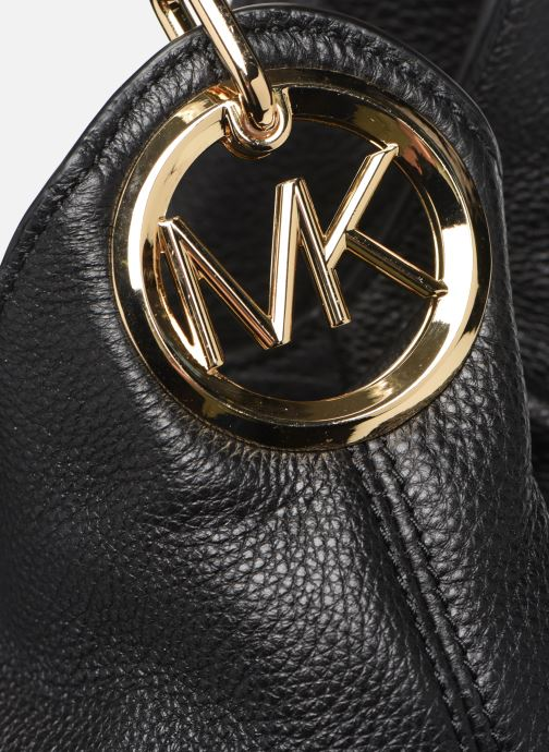 Handtaschen Michael Michael Kors LILIE LG CHAIN SHOULDER TOTE schwarz ansicht von links