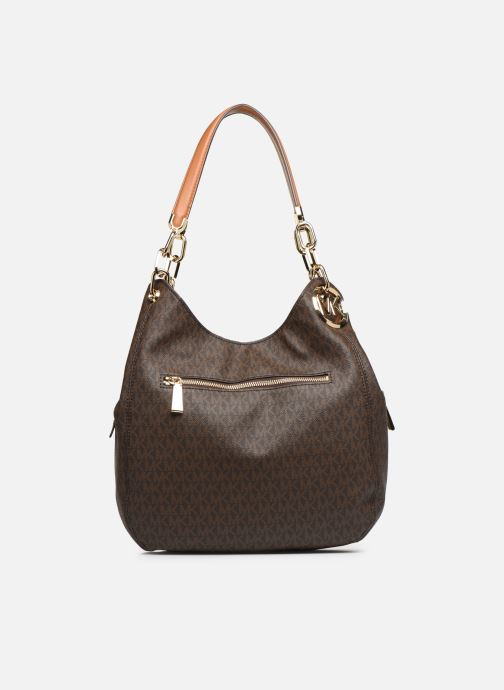 Sacs à main Michael Michael Kors LILIE LG CHAIN SHOULDER TOTE Marron vue face
