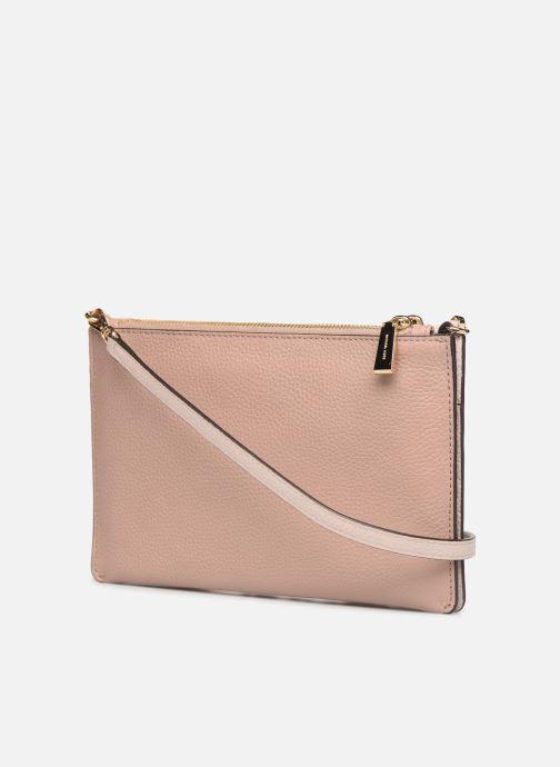 Mini Bags Michael Michael Kors LG DOUBLE POUCH CROSSBODY rosa ansicht von rechts