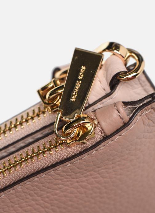 Mini Bags Michael Michael Kors LG DOUBLE POUCH CROSSBODY rosa ansicht von links