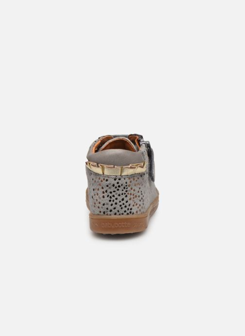 Ankle boots Babybotte Aivantail Grey view from the right