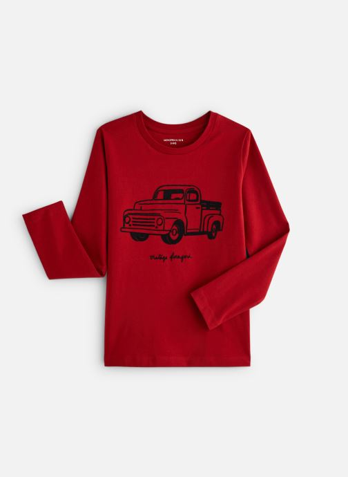Kleding Monoprix Kids T-shirt manches longues Truck Rood detail