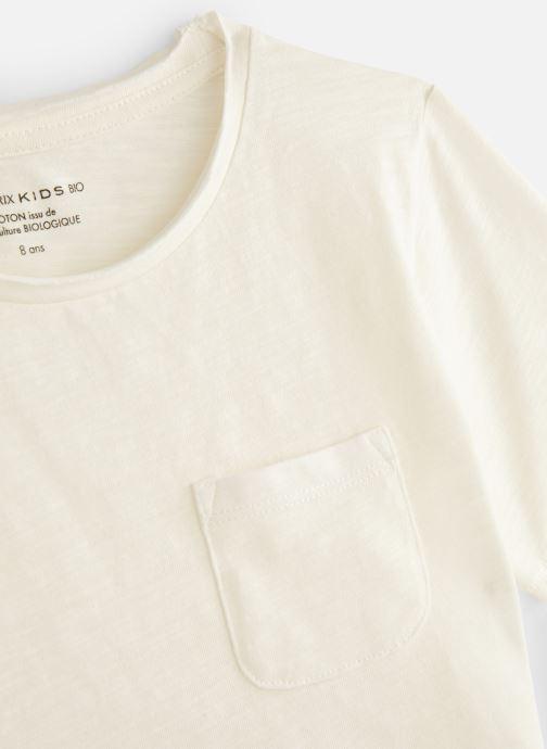 Ropa Monoprix Kids T-shirt manches courtes Slub Bio Blanco vista del modelo
