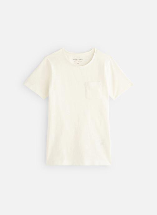 Ropa Monoprix Kids T-shirt manches courtes Slub Bio Blanco vista de detalle / par