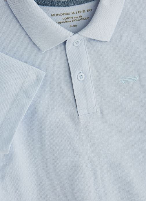 Vêtements Monoprix Kids T-shirt manches courtes Piq UNBIO Blanc vue portées chaussures