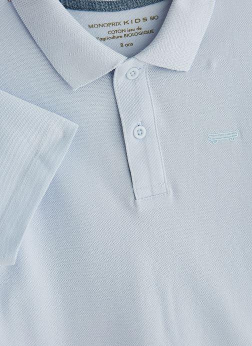 Vêtements Monoprix Kids T-shirt manches courtes Piq UNBIO Bleu vue portées chaussures