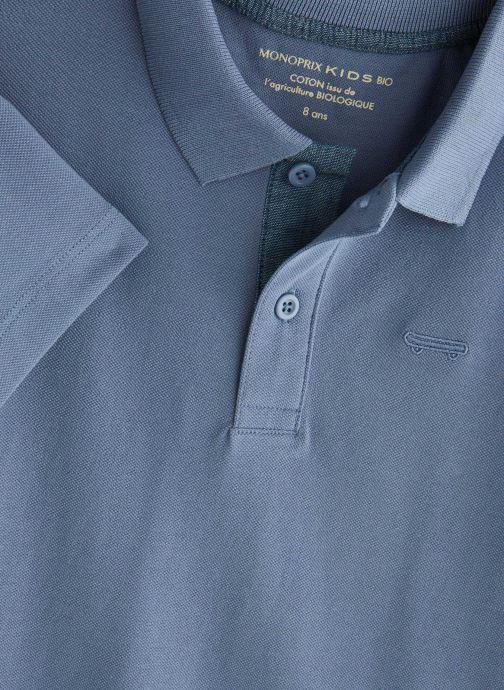Vêtements Monoprix Kids Polo manches courtes Ess Bleu vue portées chaussures