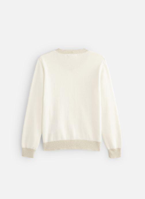 Vêtements Monoprix Kids Cardigan basique Bio Blanc vue bas / vue portée sac