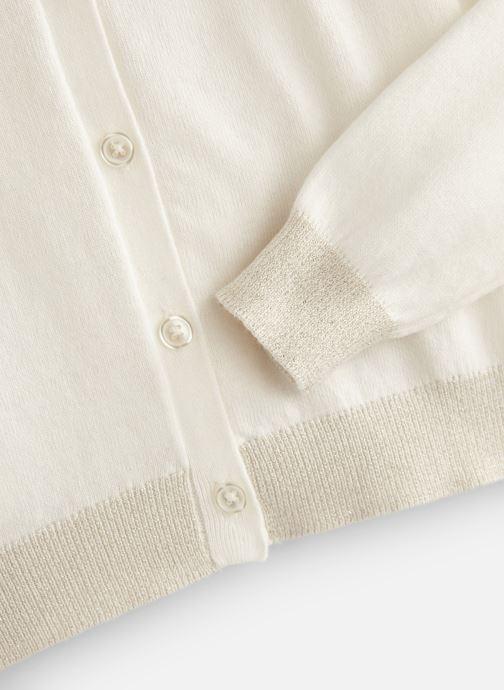 Vêtements Monoprix Kids Cardigan basique Bio Blanc vue portées chaussures