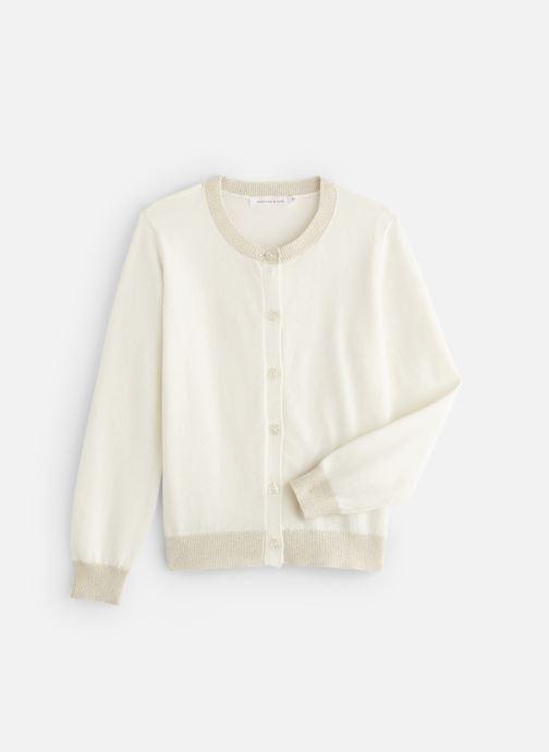 Vêtements Monoprix Kids Cardigan basique Bio Blanc vue détail/paire