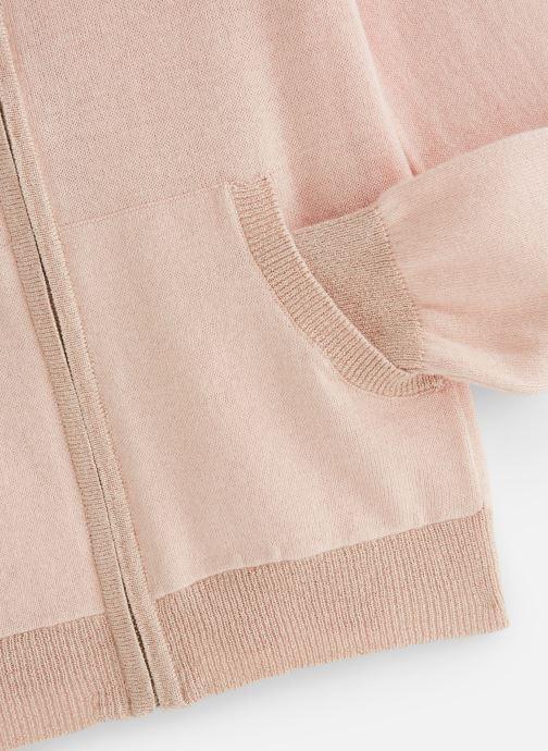 Vêtements Monoprix Kids Cardigan capuche Rose vue portées chaussures