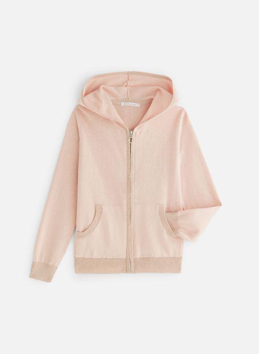 Vêtements Monoprix Kids Cardigan capuche Rose vue détail/paire