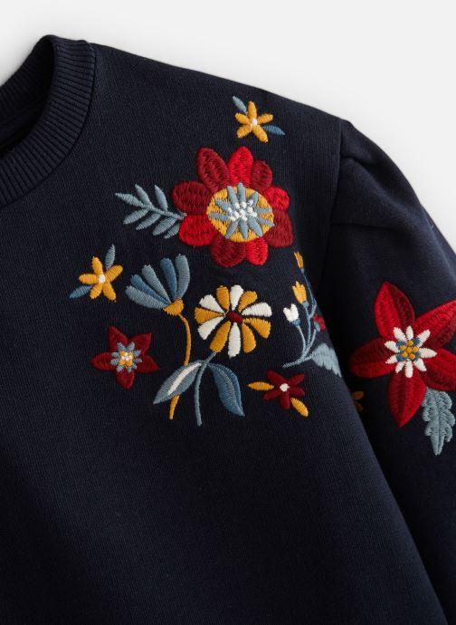 Vêtements Monoprix Kids Sweat brodé fleurs Bleu vue portées chaussures